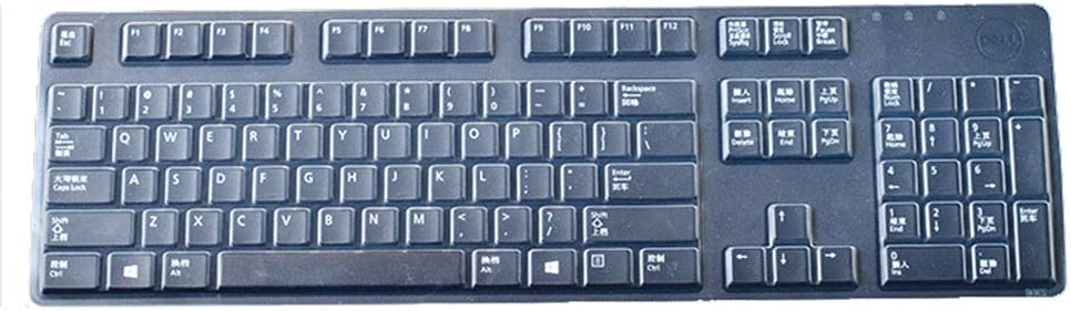 Ultra Thin Silicone Desktop PC Keyboard Cover Skin Protector Compatible with Dell KB212-B Keyboard /& Dell KB4021 Keyboard Transparent
