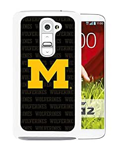 Ncaa Michigan Wolverines 20 White Popular Custom Design LG G2 Phone Case