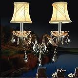 SJUN—Living Room Wall Lamp Bedside Lamp Wall Lamp Led-Bedroom Modern Minimalist Creative Crystal Lamps,A