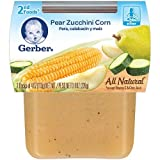 Gerber 2nd Foods, Pear, Zucchini, Corn, 4 Ounce (Pack Of 2)