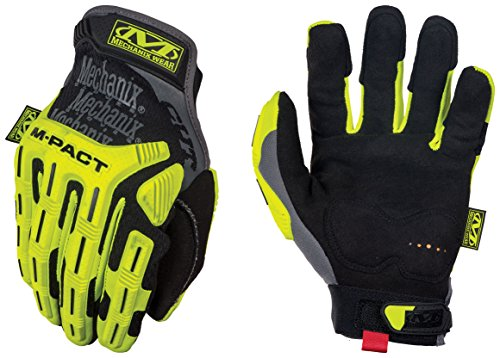 Mechanix Wear - Hi-Viz M-Pact Cut Resistant E5 Gloves (Small, Black/Fluorescent Yellow)