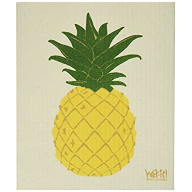 Swedish Treasures Wet-it! Cleaning Cloth, Pineapple, Super Absorbent, Reusable, Biodegradable, All-purpose
