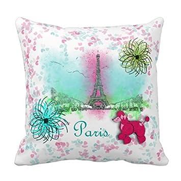 Inspiration Vintage Rose Caniches Paris Couvre Lit