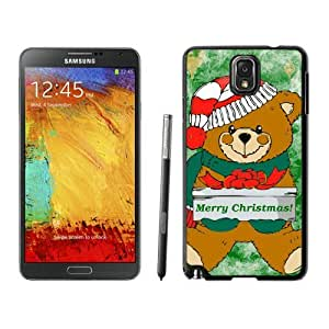 Hot Sell Design Christmas Bear Black Samsung Galaxy Note 3 Case 4