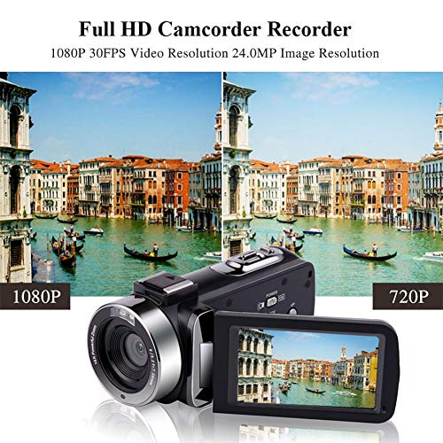 514e04 i1KL - Camcorder Video Camera Full HD 1080P 30 FPS IR Night Vision Vlogging Camera 3.0 Inch IPS Screen 16X Digital Zoom Digital Camera with Remote Control (MV1)