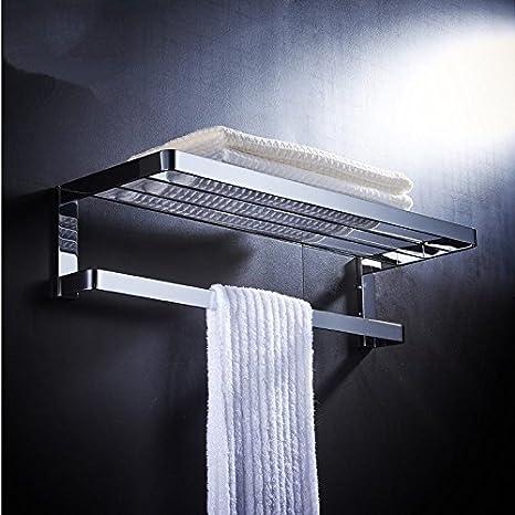 NUANZ Todo cobre del baño de toallas, toallero, baño estante, suspensión de baño Herrajes para baño colgantes Polo, 60cm Toalla: Amazon.es: Bricolaje y ...