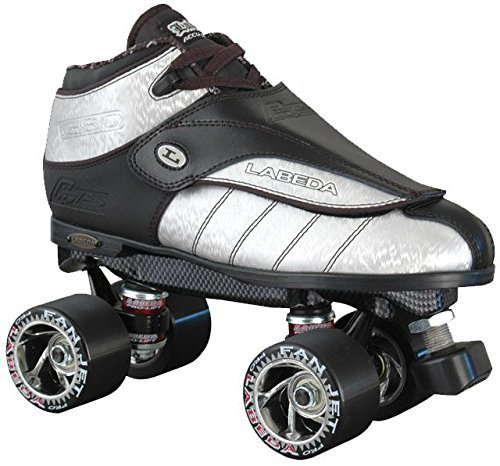 Labeda New G-80 Silver Streak Leather Quad Speed Roller Derby Jam Skates (07)