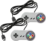 Wired Controller for Super Nintendo SNES Classic Mini Edition Console Color (2-Pack)