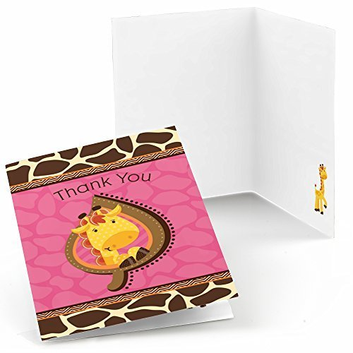 - Big Dot of Happiness Giraffe Girl - Baby Shower or Birthday Party Thank You Cards (8 count)