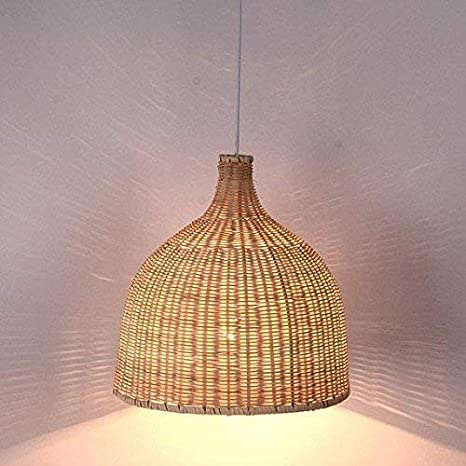 online store 2c2a7 8f6aa Arturesthome Rattan Pendant Light, Handmade Basket Lamp ...