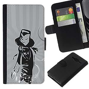 EJOY---La carpeta del tirón la caja de cuero de alta calidad de la PU Caso protector / Samsung Galaxy Core Prime / --Música Magia Músico Notas