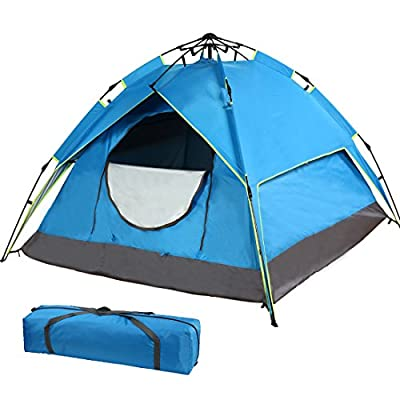 FARLAND 2-Person Camping Tent Blue Backpacking Tent for Hiking Traveling