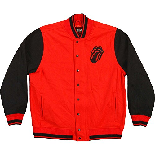 Rolling Stones Men's Varsity Jacket X-Large Red by Rolling Stones