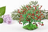 Handmade Decorative Beaded Barberry Bush On Wire Frame Table Decoration For Home