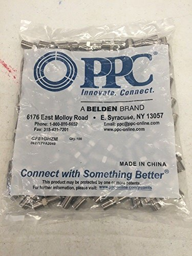 100 Pcs High Frequency 3GHz F81 Barrel Connectors Couplers