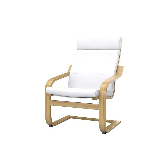 Soferia - IKEA POÄNG Funda para sillón, Eco Leather White ...