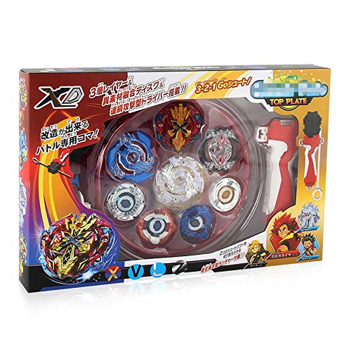 PPKred Spinning Tops Gyro Toys Gyroscope BeyLauncher Battling Tops Spinning Toys XD168-1 Fight with Power Handle Launcher Gift
