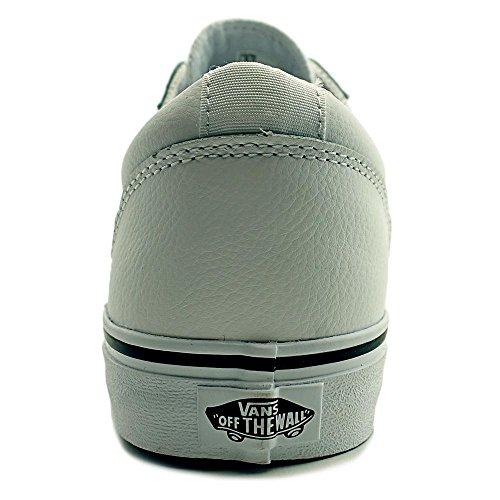 Vans Mens Ward Bas Cuir, Sneakers, Blanc / Noir, M Us