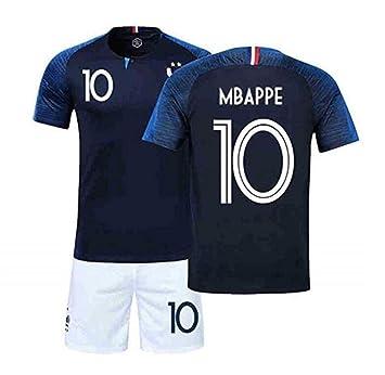 FRQQ Equipo francés Equipo de fútbol Uniforme Mbape 10 ...