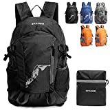 SPAHER Ultralight Hiking Backpack Trekking Rucksack Foldaway Packaway Daypack Shoulder Bag Waterproof Outdoor Unisex Cycling Holdall Flight Bag School Camping Travelling Bag 20L-Reflective In Night