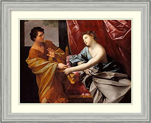 Framed Wall Art Print Joseph and Potiphars Wife by Guido Reni 26.75 x ()