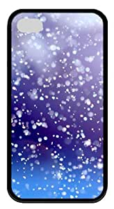 iphone 4 case rubber The sky white spots TPU Black for Apple iPhone 4/4S
