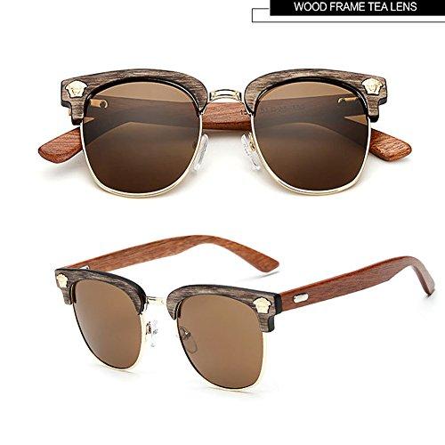Sunglasses UV 400 HD Color Lens Eye Wear Glasses with Alloy Frame - Horn Rimed Glasses