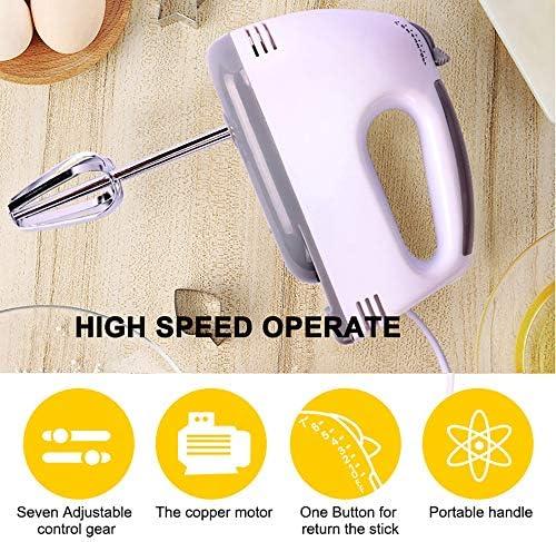 YQK 7 velocità Alimentari Mixer, 100W Stand Mixer palmari Robot da Cucina con Ciotole, Cibo Elettrico Blender Cottura Panna da Montare, può smontare Stir Bar