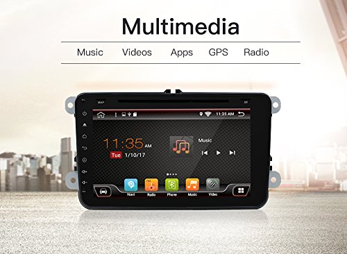 2G 16G With Camera and microphone Android 6.0 Quad Core Wifi model car dvd player gps 2 Din 8 Inch For Volkswagen VW Skoda POLO PASSAT B6 CC TIGUAN GOLF 5 Fabia Support Mirror Link/OBD2/Subwoofer by BOSION Navigation