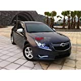 2PCS LED DRL Driving Fog Lamp Day Time Light Running Day Turn Signal Cover Kit Fit For Chevrolet Cruze 2009 +