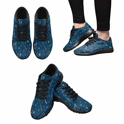 InterestPrint Womens Trail Running Shoes Jogging Lightweight Sports Walking Athletic Sneakers Musical Instruments Background Multi 1 2Qtu5I5