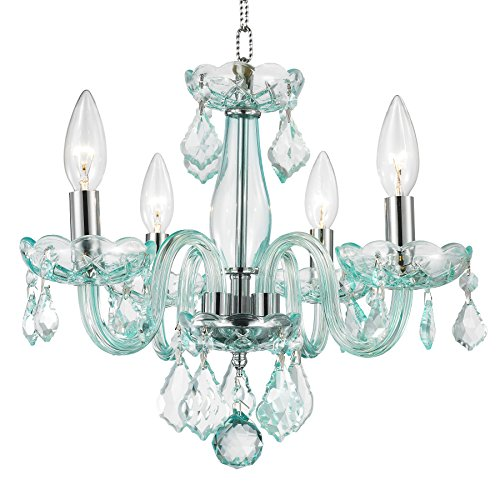 Worldwide Lighting W83100C16-CB Clarion 4 Light Mini Crystal Chandelier, 16