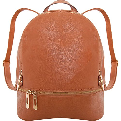 d1a117246 6 · Humble Chic Vegan Leather Backpack Purse Small Fashion Travel School Bag  Bookbag, Saddle Brown,