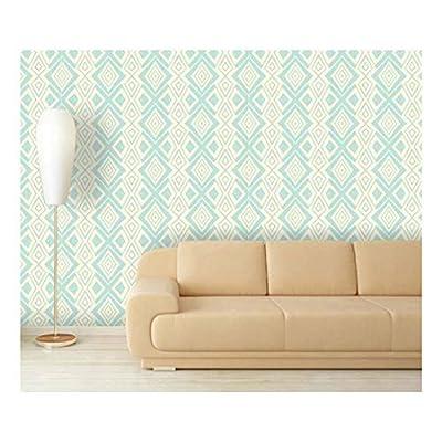 Large Wall Mural - Abstract Seamless Pattern | Self-Adhesive Vinyl Wallpaper/Removable Modern Decorating Wall Art - 66