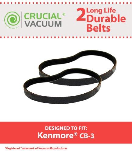 Crucial Vacuum 2 Kenmore CB-3 Belts, Fit Kenmore PowerMat...