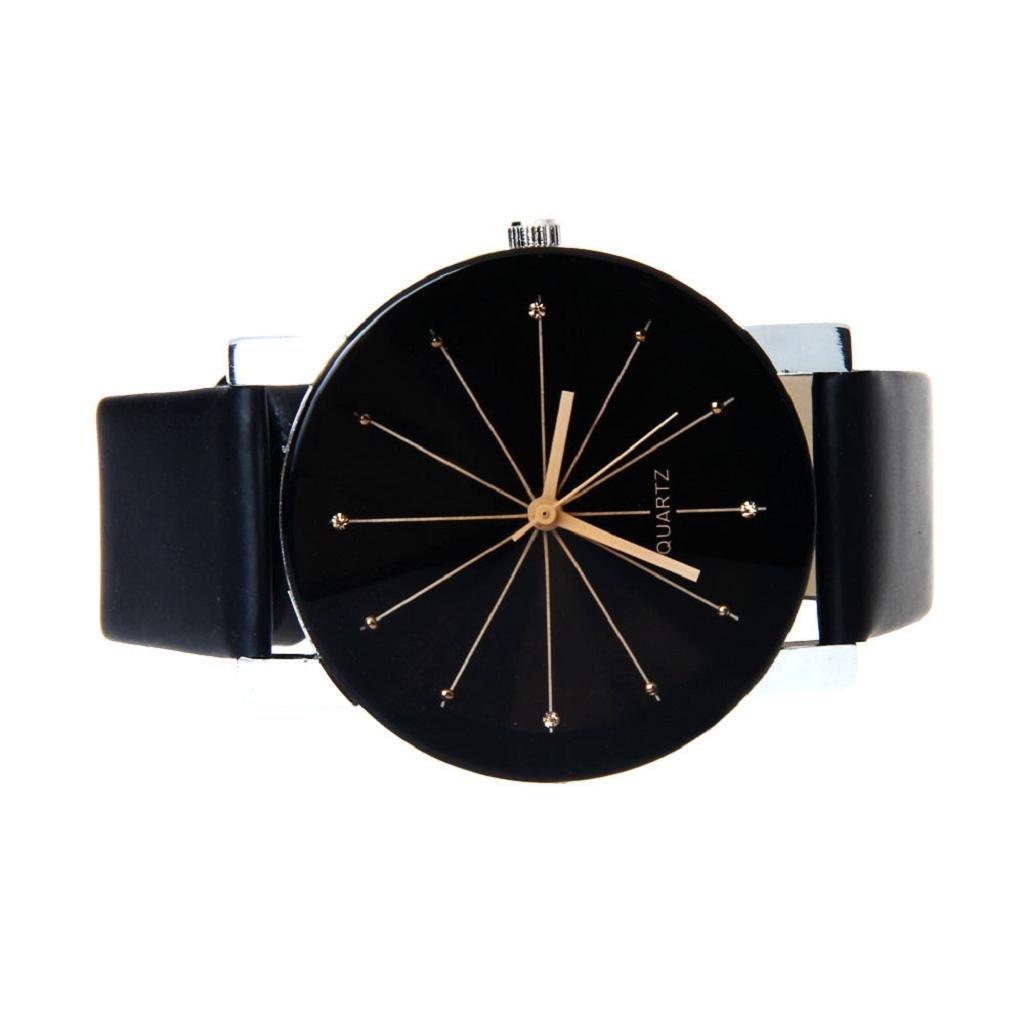 Montre Femme Pas Cher ✿luoluoluo✿ Cadran De Quartz Horloge Bracelet En Cuir  Montre Ronde - Montre Noir Homme Montre Noire Femme (Femme)  Amazon.fr  ... d2647835681