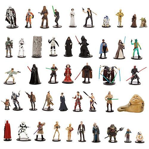 (Star Wars Ultimate Figurine Set Action Figure Toy Playset Disney Collectible C-3PO-R2-D2-Luke Skywalker-Yoda-BB-8-Han Solo-Stormtrooper-Kylo Ren-Darth Vader-Leia-Chewy-Rey-Darth Maul-Obi-Wan-Anakin)