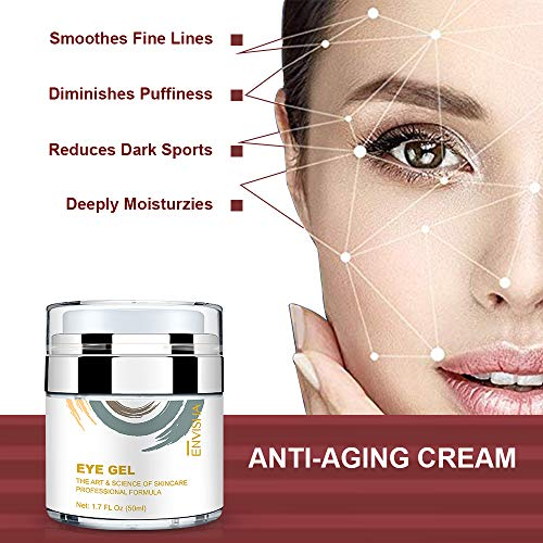 514e425PluL - Wumal Eye Gel Cream for Appearance of Dark Circles, Puffiness, Wrinkles and Bags - Effective Anti Aging Eye Cream for Men and Women
