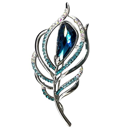 Women's Enchanting Phoenix Tail Crystal Rhinestone Custom Pin Brooch