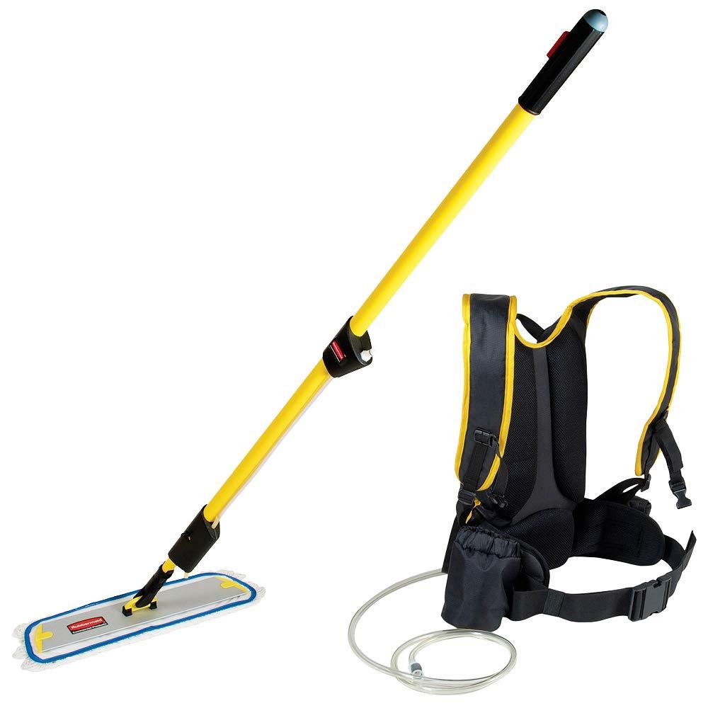Rubbermaid Commercial FLOW Flat mop Finish Kit, 1-1/2 Gallon, Yellow, FGQ97900YL00 by Rubbermaid Commercial Products