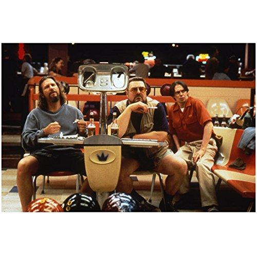 The Big Lebowski (1998) 8 Inch x 10 Inch Photo from Slide Jeff Bridges & John Goodman at Bowling Alley kn