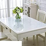 Pvc table cloth/[waterproof], burn-proof, oil-proof , disposable,[soft glass],transparent table mat/pad/ table cloth/tea table mats-C 90x140cm(35x55inch)