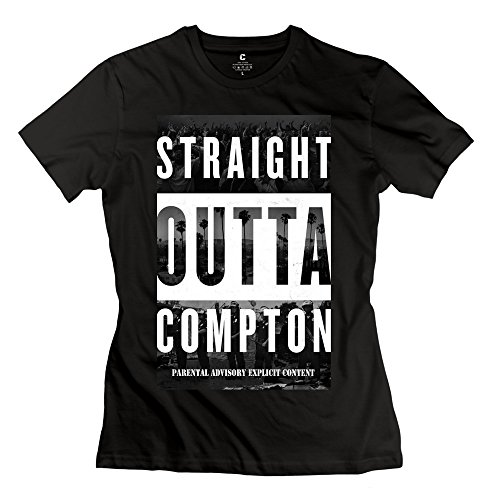 New Arrival Straight Outta Compton Movie Women's Tee Black Size M