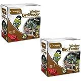 2 X Window Bird Feeders From Kingfisher. A Package Of 2 Clear Perspex Window Bird Feeders