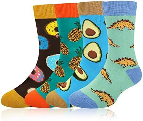 Kids Boy's Novelty Funny Crazy Space Food Cute Animal Cool Sport Cotton Socks
