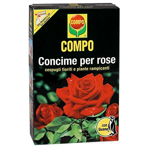 Compo 1276712005 Concime per Rose con Guano, 3 kg, Marrone, 9.4x18.3x32 cm