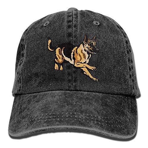 Denim Baseball Cap Dog German Shepherd Men Golf Hats Adjustable Baseball Hat