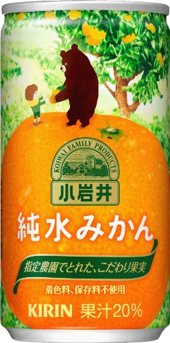 Koiwai this pure water tangerine 185g cans X30 by Kirin Beverage Corporation