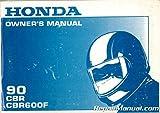 31MT6610 1990 Honda CBR600F Motorcycle Owner Manual