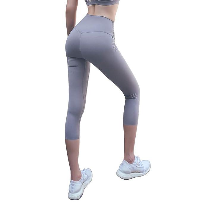 Amazon.com: Yiboba - Mallas de yoga de cintura alta para ...